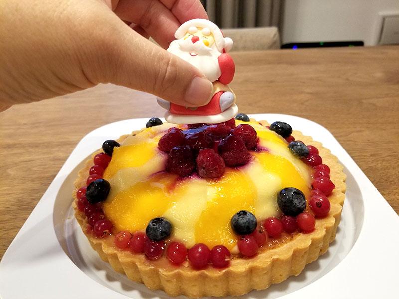Cake.jpのクリスマスケーキ「フルーツタルト18cm」食べた感想