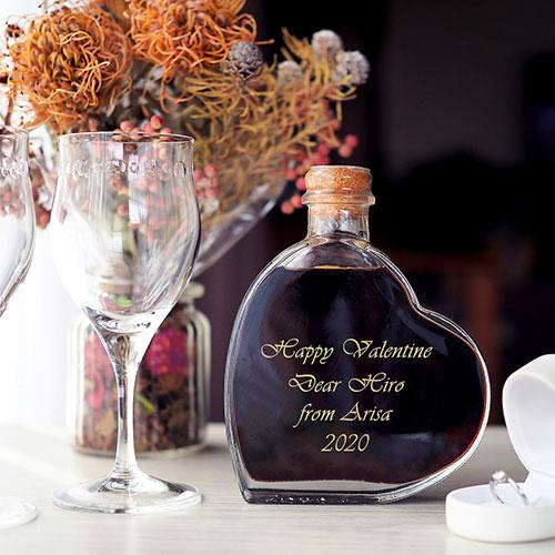 【名入れ】スウィートワイン ハート型ワイン バレンタインプレゼント