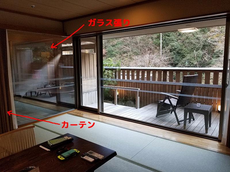 ガラス張りの露天風呂 箱根湯本「ホテルおかだ」露天風呂付き客室「紅藤」に泊まってみた感想
