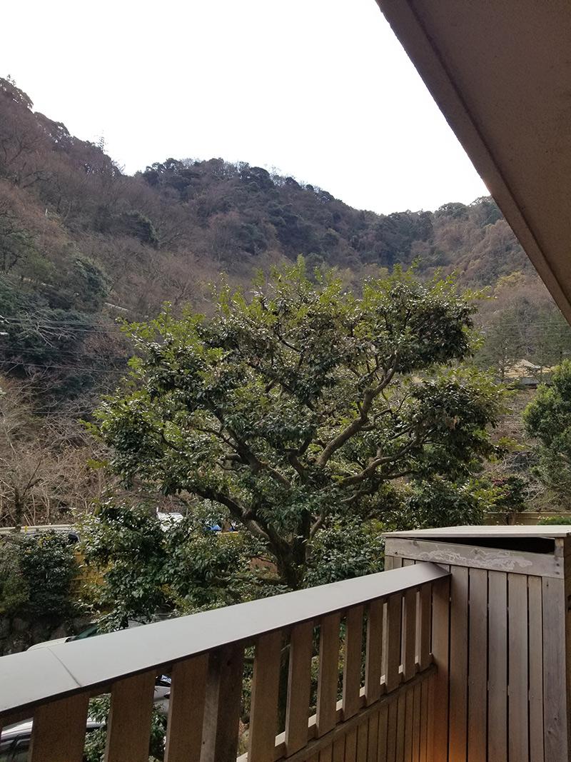 景色 箱根湯本「ホテルおかだ」露天風呂付き客室「紅藤」に泊まってみた感想