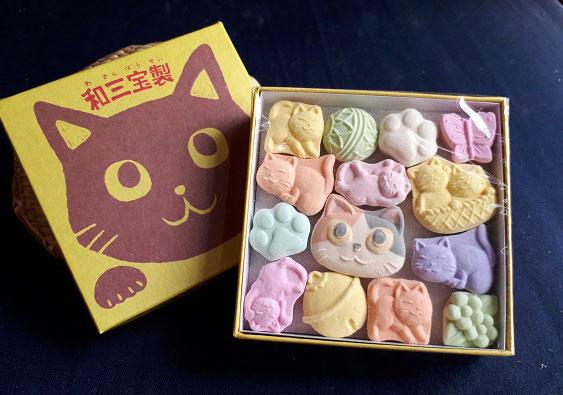 純日本産のプレミアム感もイイ!和三盆糖『ねこづくし』