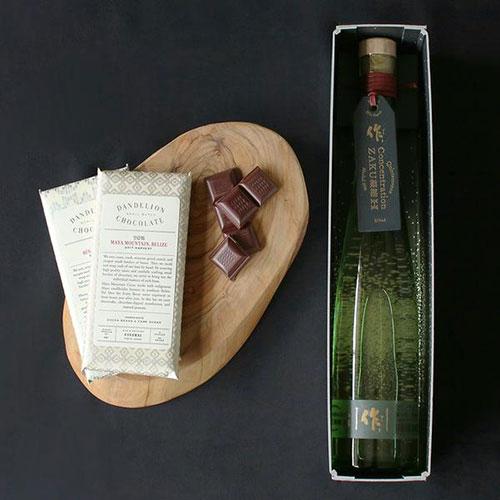 ダンデライオンチョコレート 日本酒とチョコレートのペアリングセット
