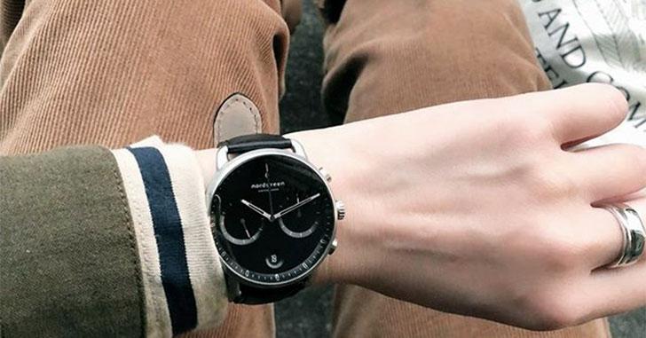 北欧デザインのクロノグラフ腕時計「ノードグリーン・パイオニア」