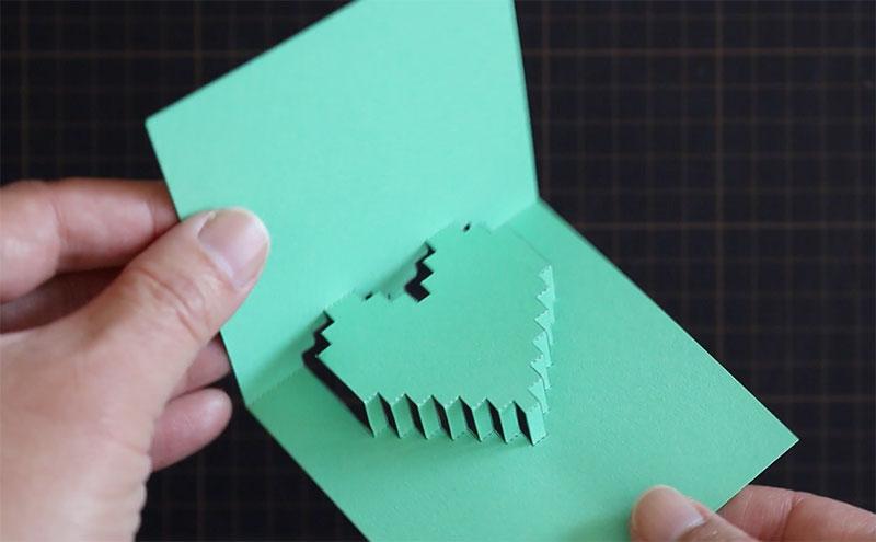 ハートが飛び出す!ポップアップカードの作り方
