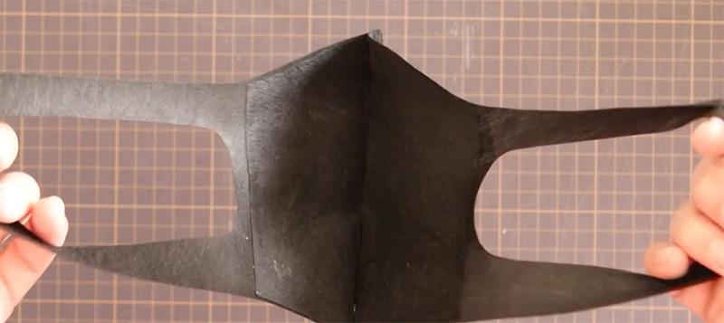完成した立体マスクを広げた時のイメージ