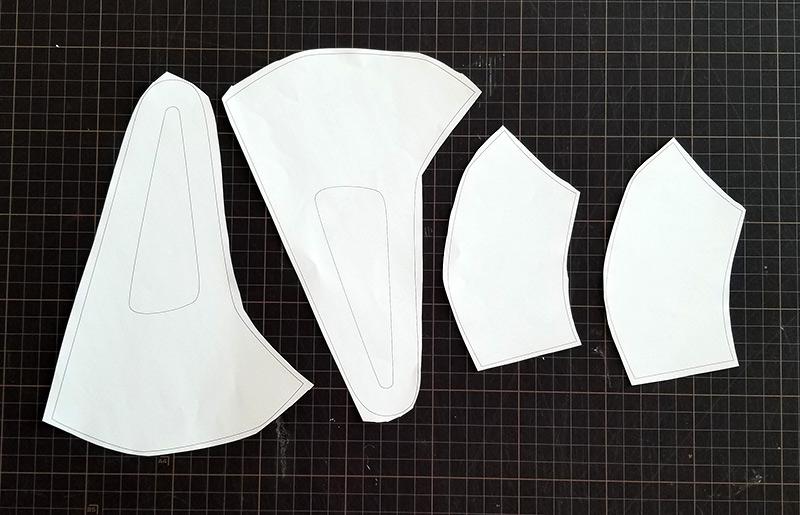 マスクの作り方〜型紙を切り抜く
