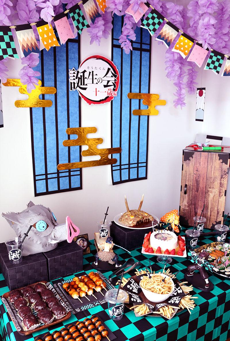 鬼滅の刃がテーマの誕生日パーティー演出