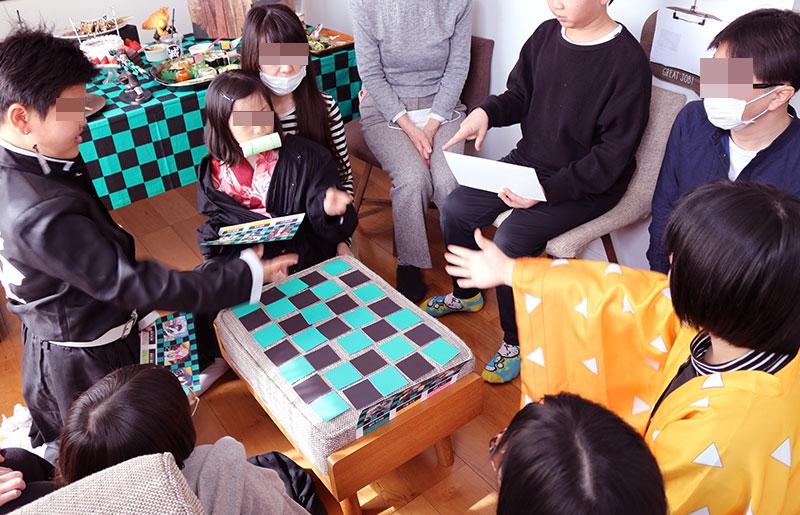 鬼滅の刃がテーマの誕生日パーティー演出 カード集めゲーム