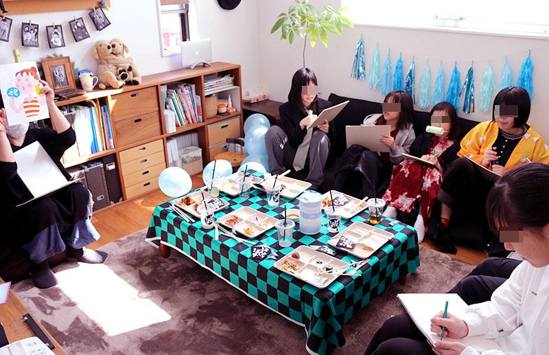 鬼滅の刃がテーマの誕生日パーティー演出 答え合わせゲーム