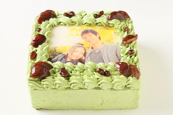 写真ケーキ抹茶 5サイズ 15cm×15cm