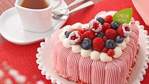 プリンセスハート ショートケーキ