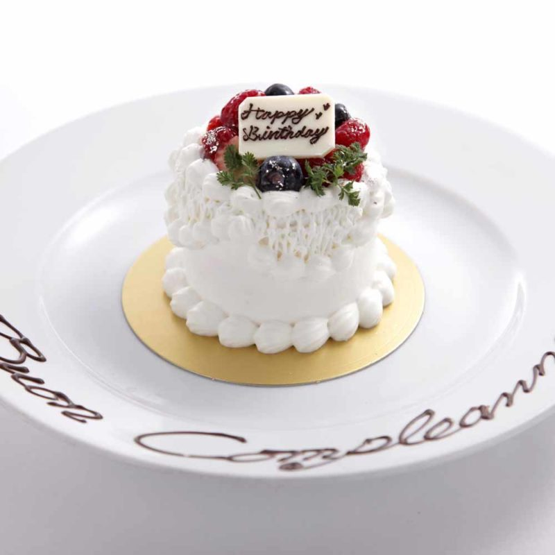 プリフィクスコースケーキ