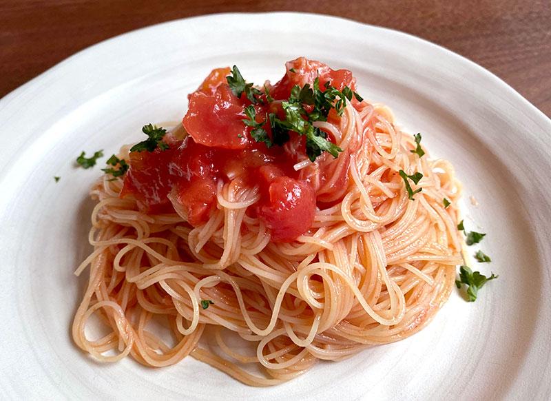 ホタテとトマトの冷製カッペリーニ(2人分)
