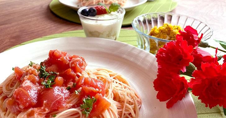 子どもが作れる母の日ご飯!パスタ&サラダ&スイーツのレシピ・作り方