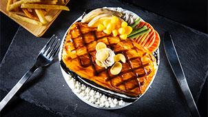 食べ物立体ケーキ(ステーキ)