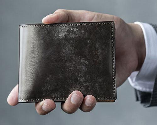 ブライドルレザー 二つ折り財布