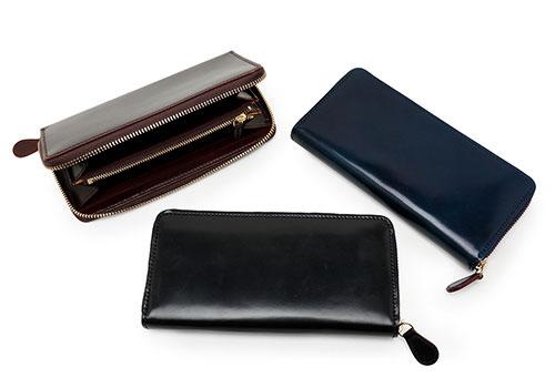 GANZO(ガンゾ)シェルコードバン2 ラウンドファスナー長財布