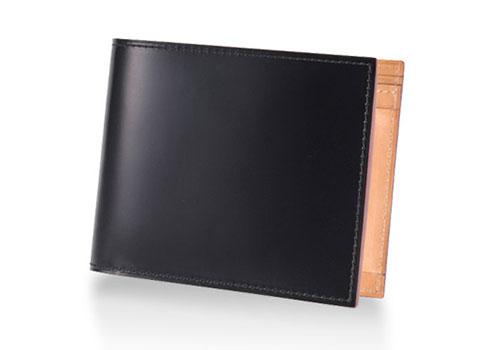 GANZO(ガンゾ)コードバン 小銭入れ付き二つ折り財布