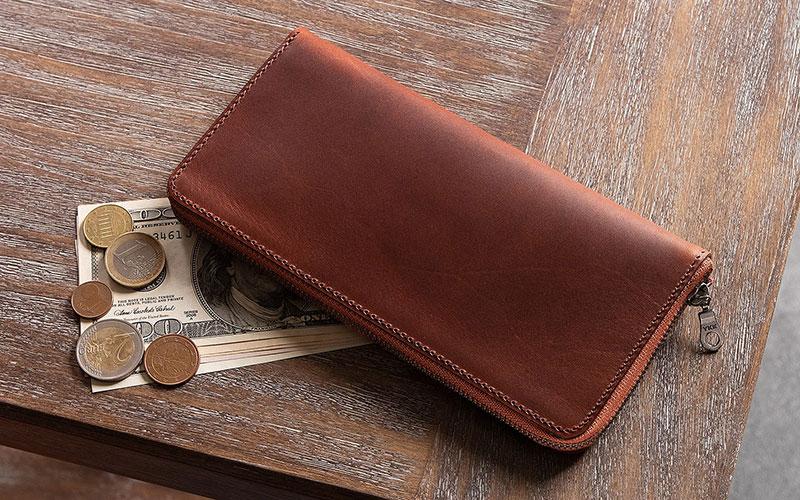m.ripple(エムリップル)マレンマ & ブッテーロ 薄型ラウンドジップ長財布