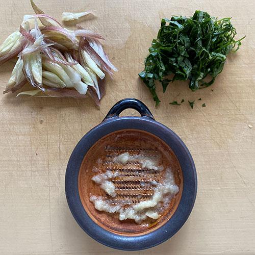なすと香味野菜のナムル 作り方