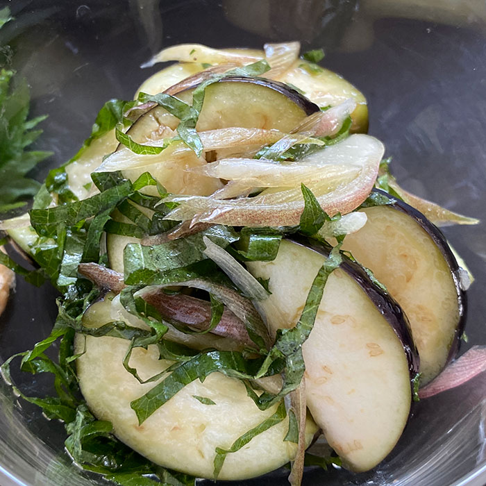 なすと香味野菜のナムル