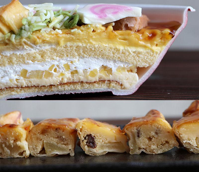 スイパラのそっくりケーキ「ギョーザ・中華そばのケーキセット」スイーツの断煙
