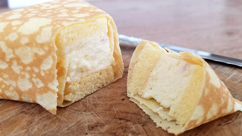 おむすびケーキ チーズ断面