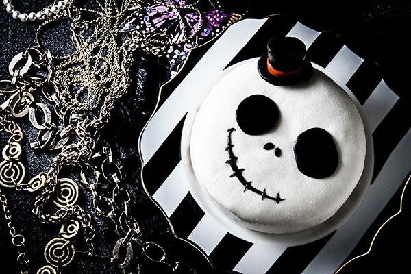 ハロウィン2020 かわいい骸骨ケーキ 立体 チーズ 5号 15cm