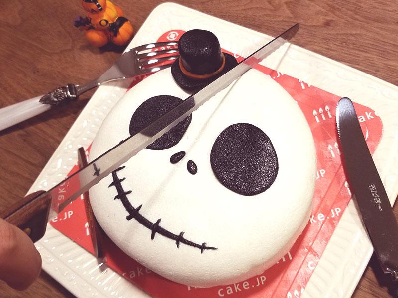 ケーキカット ハロウィン 骸骨チーズケーキ レビュー 食べた感想