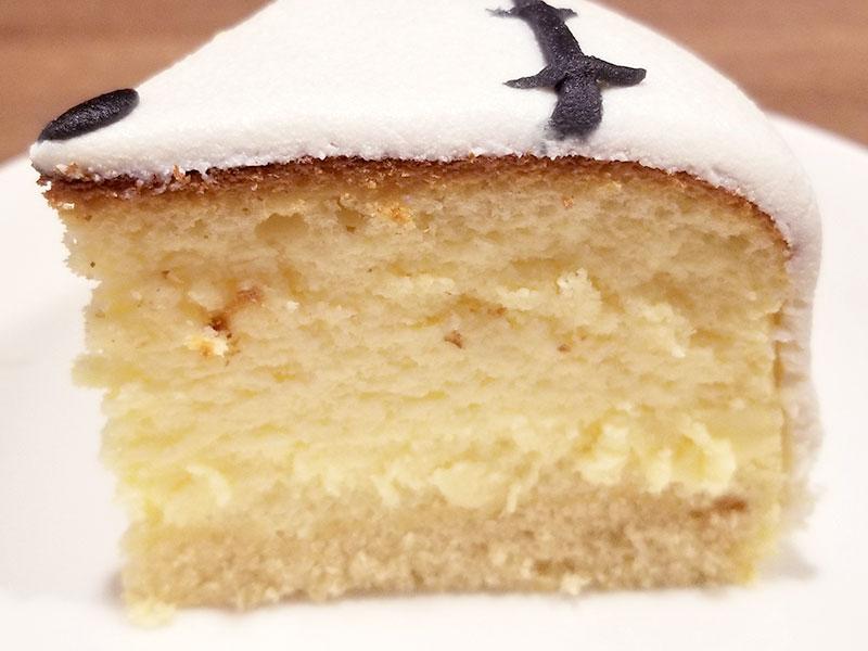 ケーキの断面 ハロウィン 骸骨チーズケーキ レビュー 食べた感想