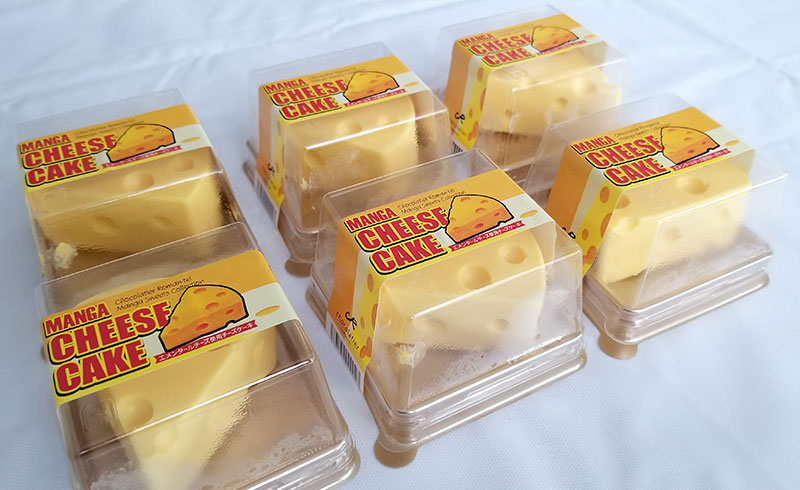 マンガチーズケーキのレビュー パッケージ