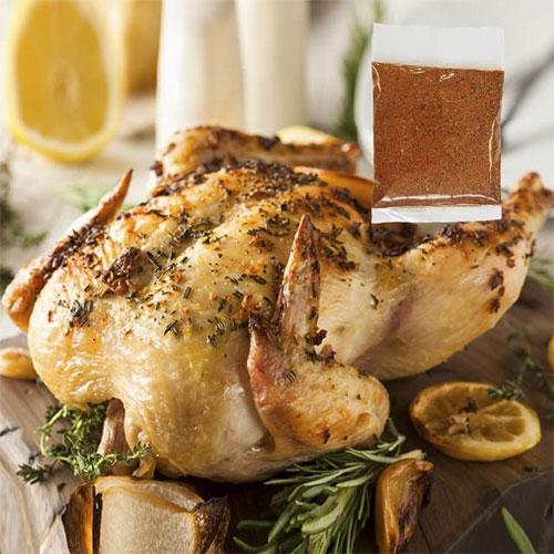 ローストチキンのお試しセット「鶏丸ごと(グリラー)1.2kg+チキンスパイス20g」