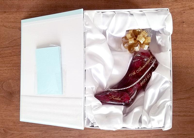 ケース 箱 中身 シンデレラのガラスの靴のハーバリウムをレビュー