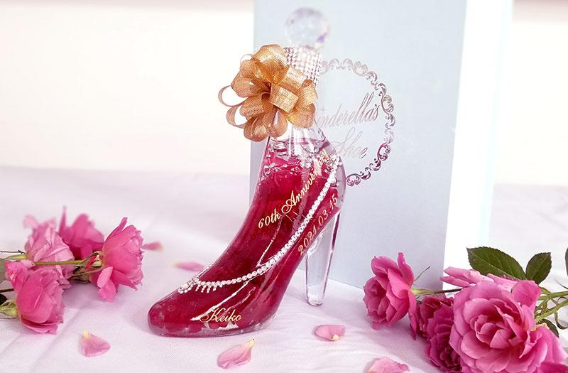 シンデレラのガラスの靴のハーバリウムをレビュー 商品全体