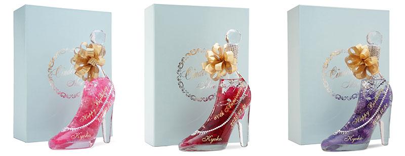 シンデレラのガラスの靴のハーバリウム カラーバリエーション