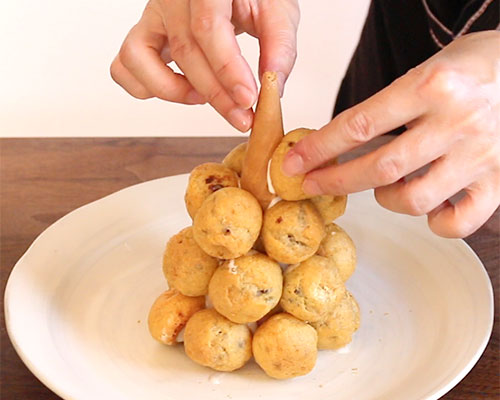 クロカンブッシュの作り方