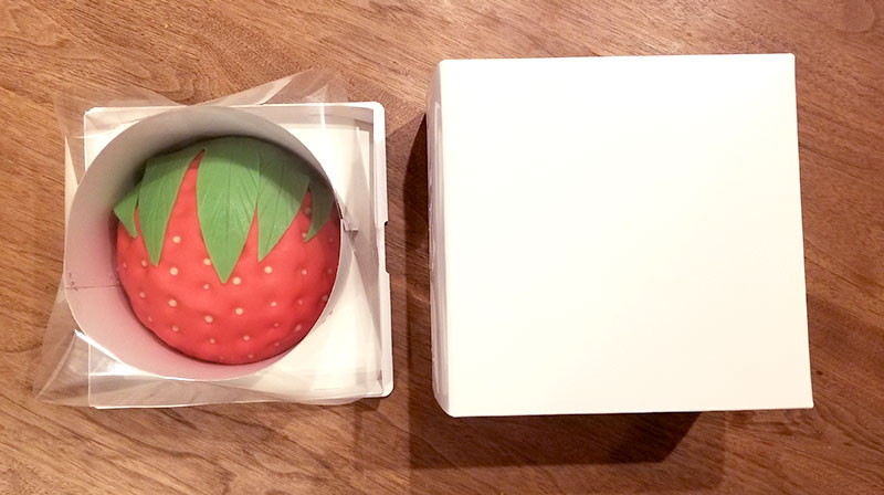 箱から中身を出した状態 いちごの立体ケーキ レビュー 感想
