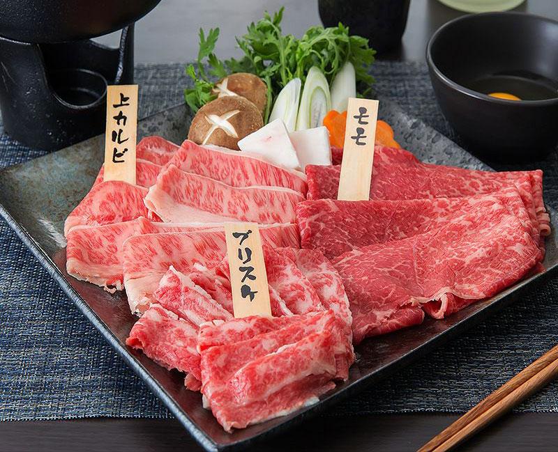 【但馬牛・三田和牛食べ比べセット】 三種【桜】すき焼き・しゃぶしゃぶ300g