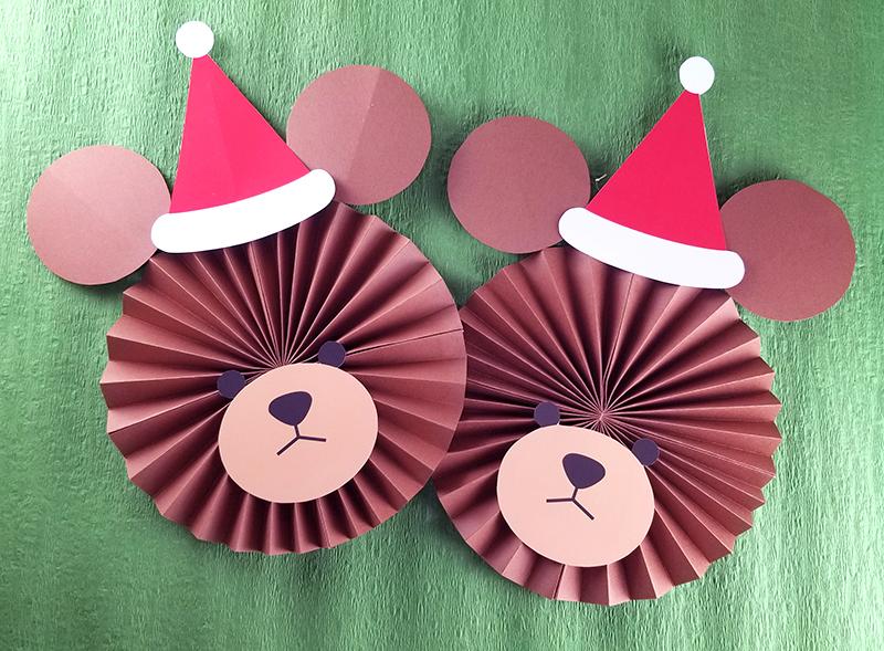サンタ帽がかわいい!テディベアペーパーファ