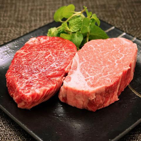 特選 米沢牛ヒレステーキ&ランプステーキ食べ比べセット各100g(A5・A4等級)