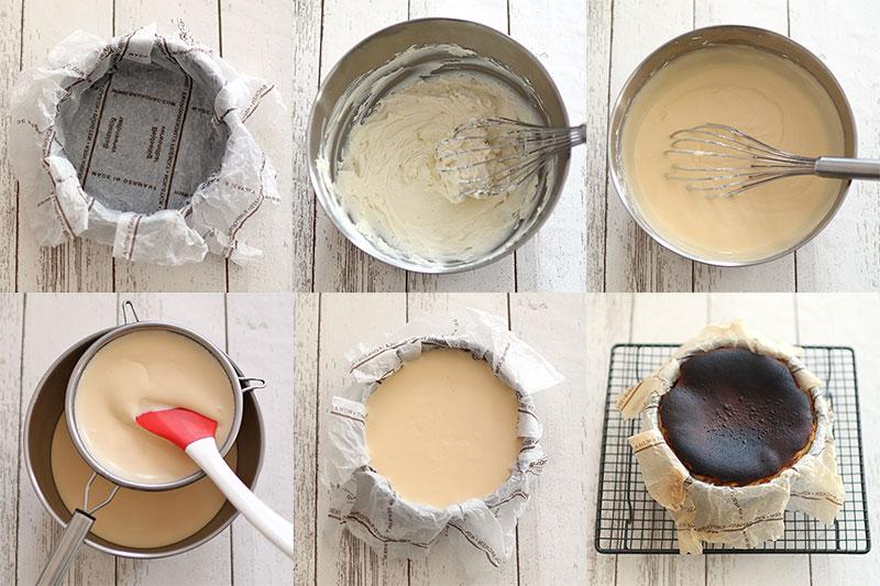 王道の丸型で作るバスクチーズケーキレシピ