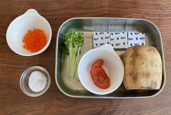 花蓮根の明太クリームチーズ 材料