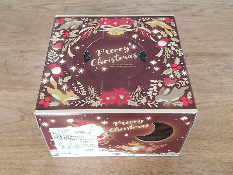 高島屋の通販クリスマスケーキで人気の「Les Sens ノエルド・ショコラ」 ケース