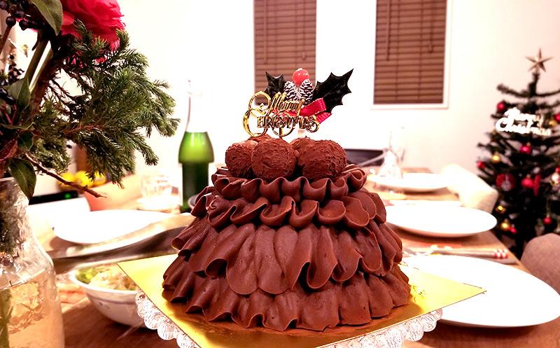 高島屋の通販クリスマスケーキで人気の「Les Sens ノエルド・ショコラ」