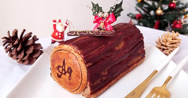 アグネスペストリーブティックのクリスマス焼菓子「ケーク・ビッシュ・ド・ノエル」をレビュー!!