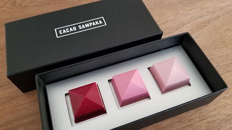 中身のショコラ 宝石のようなショコラ「カカオサンパカ・スタニング セレクション 3個入」を食べた感想