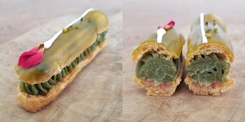 ルワンジュ東京・エクレアートショコラプレミアム 食べた感想 ピスタチオ