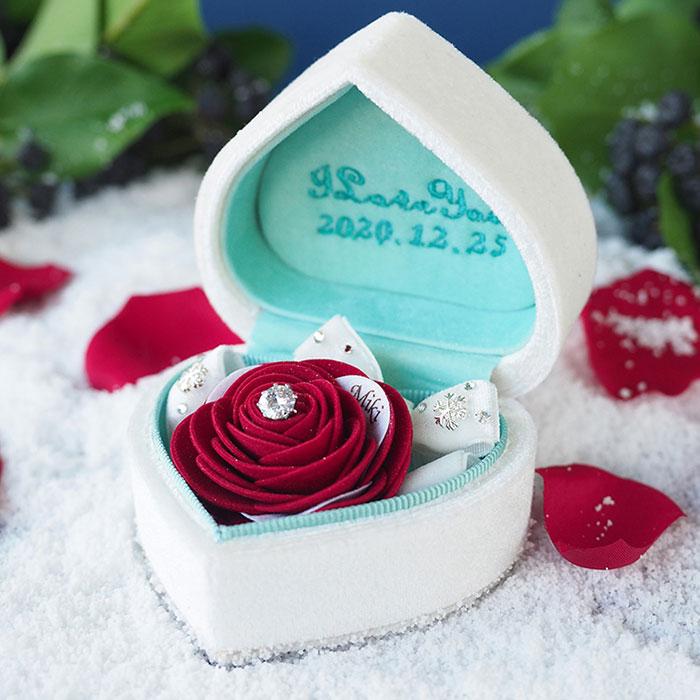 赤いバラで叶える箱パカ・プロポーズ「プロポーズボックス 赤薔薇(ダイヤモンドローズ)」