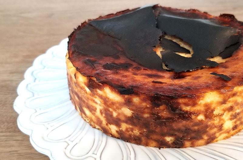 Sincere(シンシア)の通販バスクチーズケーキ 表面の様子