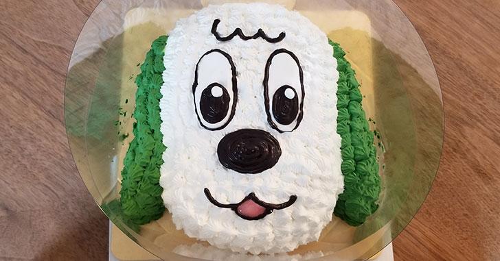 息子の誕生日にワンワンの立体キャラクターケーキをネットオーダー